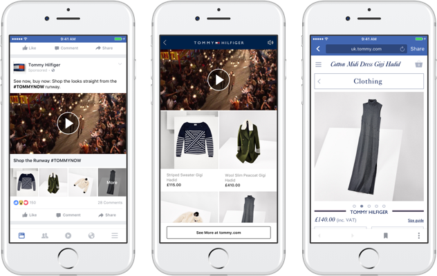 Tommy Hilfiger - Uno dei primissimi brand ad utilizzare le Facebook Collection