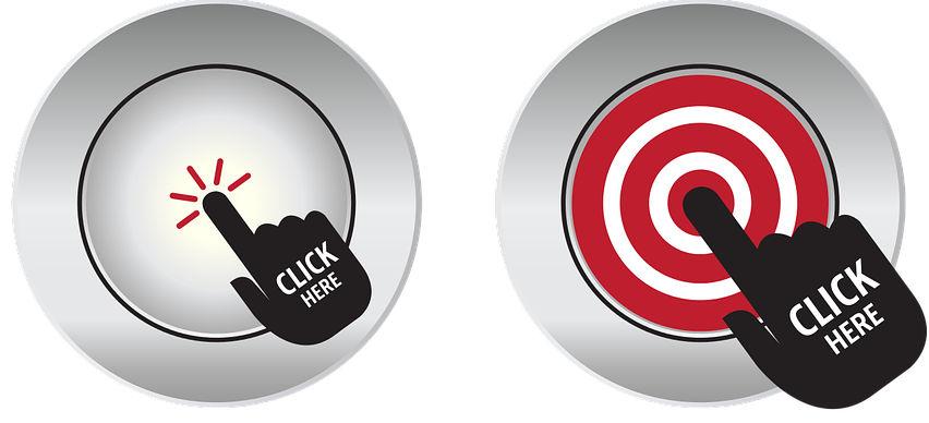 Esempi di bottoni da cliccare