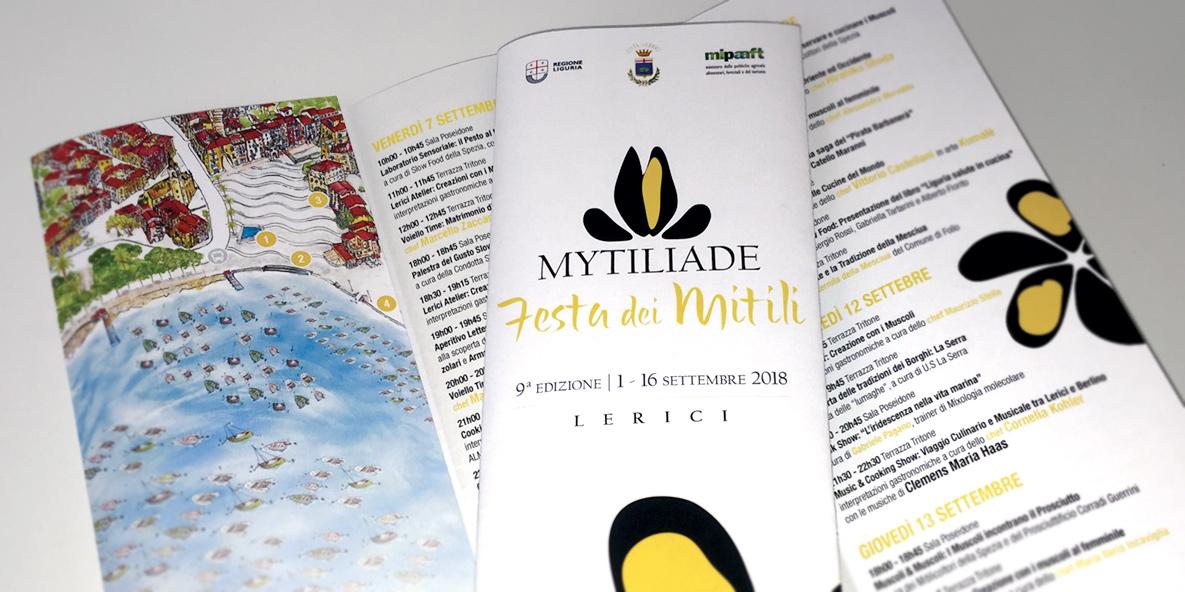 Depliant e Locandine per Mytiliade realizzate da Digiside