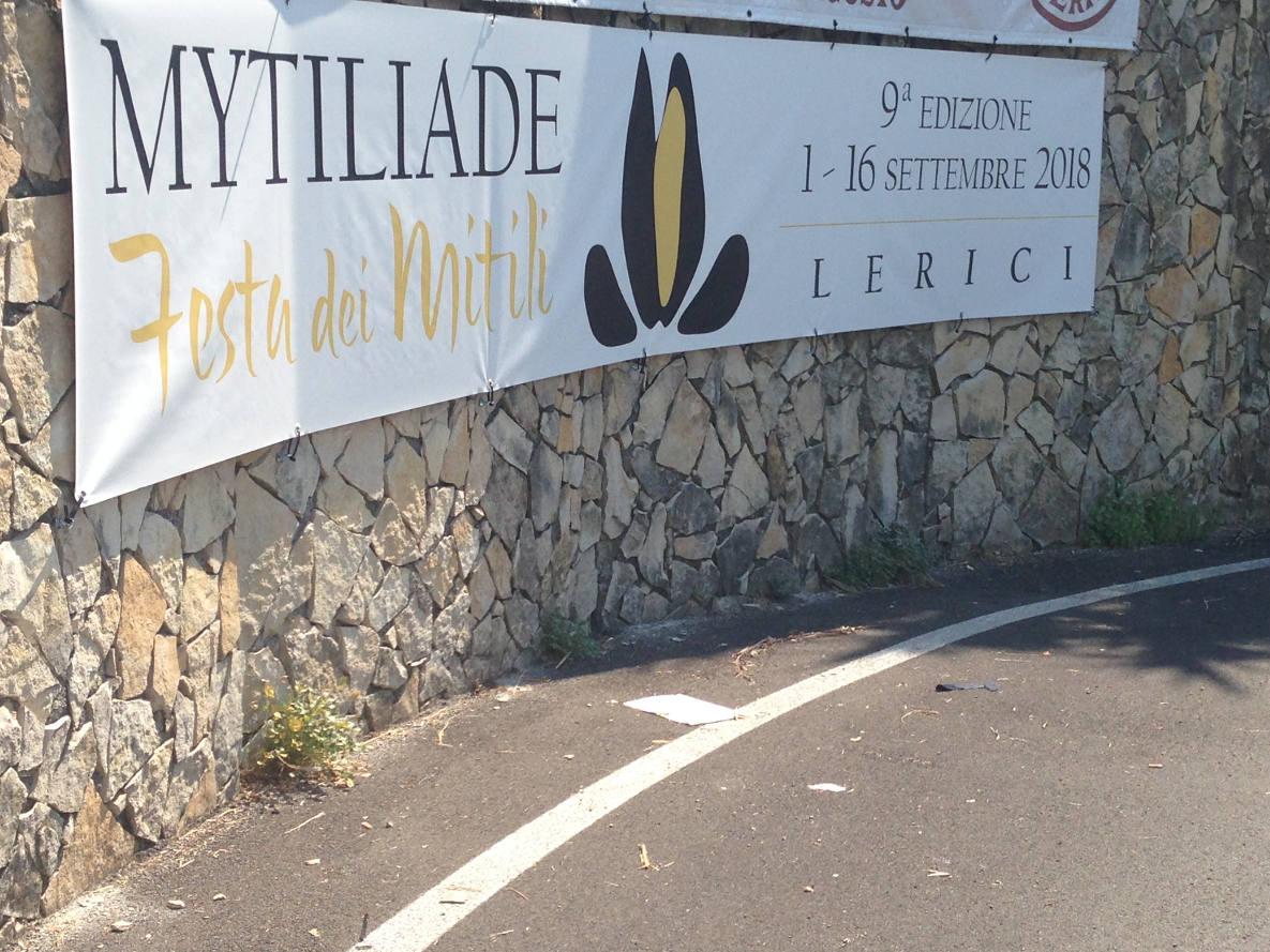 Striscione, Mytiliade 2018, Lerici